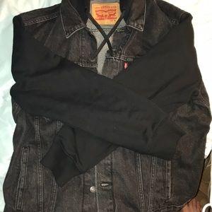 Levi's Black Hybrid Trucker XL Jacket